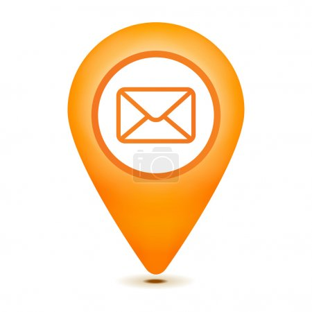 email pointer icon on a white background