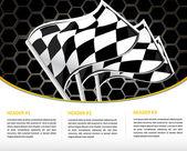 Závodní plakát s racing vlajky