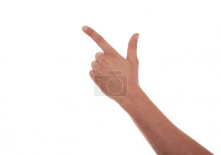 Male hand pointing