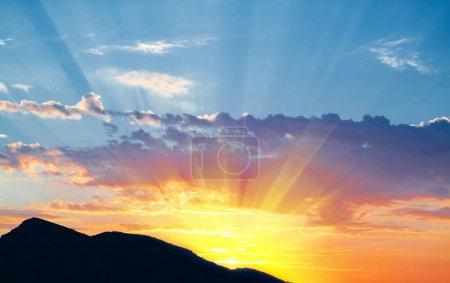Photo pour Lever de soleil - image libre de droit