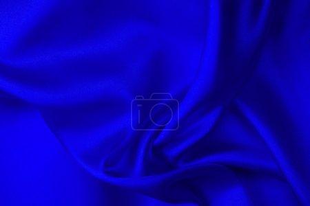 Blue silk fabric