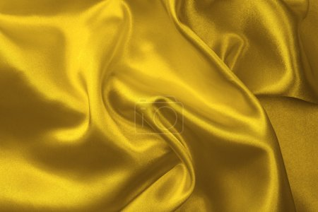 Yellow silk fabric