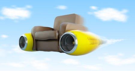Photo pour Taxi siège équipé d'un moteur de l'avion, air taxi - image libre de droit