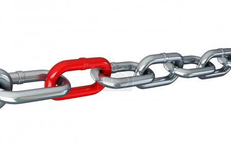 Chain links isolated