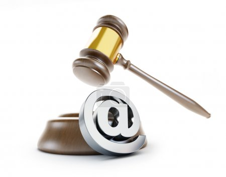 Gavel registered trademark sign 3d Illustrations