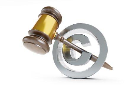 law copyright sign 3d Illustrations