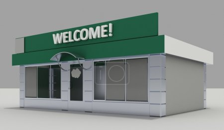 Photo for Illustration of shop - kiosk exterior - Royalty Free Image