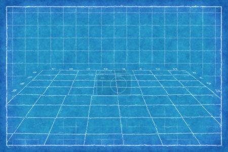 Chess board - Blue Print