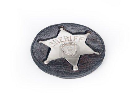 Sheriff's badge isolated on white background