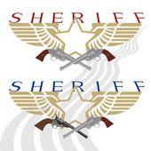Sheriff badge and gun-2