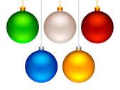 Set of 5 color Christmas balls