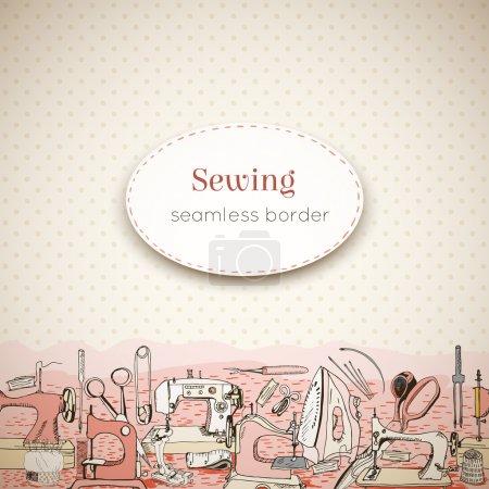 Sewing tools, seamless border