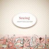 Sewing tools seamless border