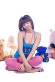 Sexy Mädchen mit Spielzeug