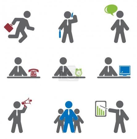 Illustration pour Icône affaires. Set vectoriel pour vous design - image libre de droit