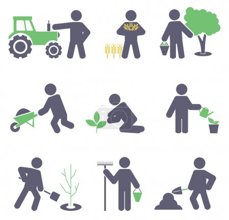 Illustration for Agriculture. Set icons for you design - Royalty Free Image