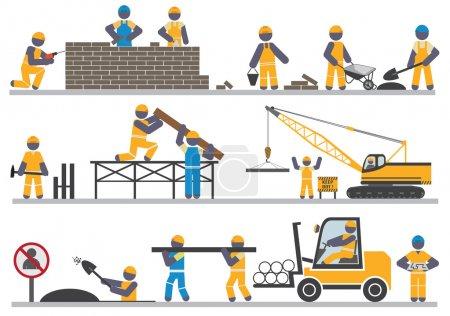 Illustration pour Travailleurs de la construction. Vecteur pour vous design - image libre de droit