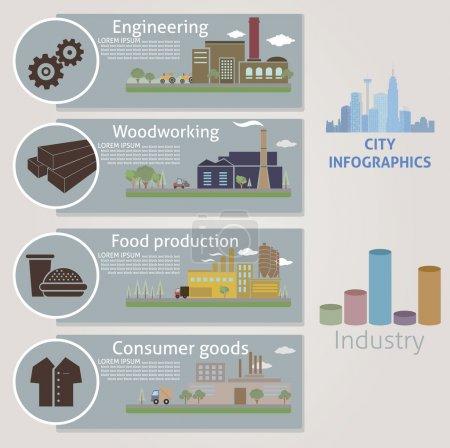 Illustration pour La ville. Industrie. Vecteur pour vous design - image libre de droit