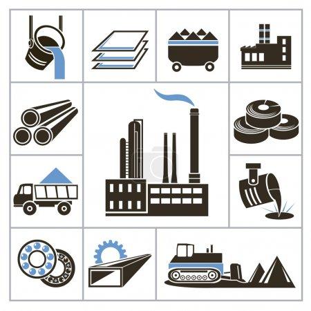 Illustration pour Icônes de l'industrie lourde. Pour vous concevoir - image libre de droit