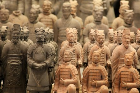 Famous terracotta warriors in XiAn, Qin Shi Huang