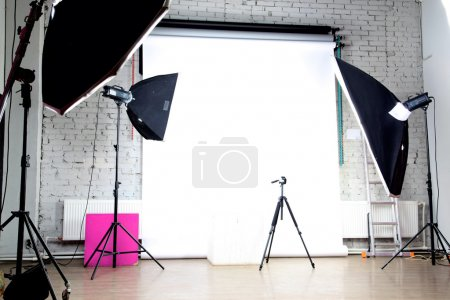 Interior of a modern photo studio...