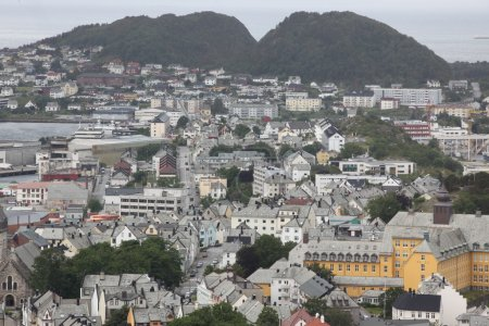 View from above of Norwegian city