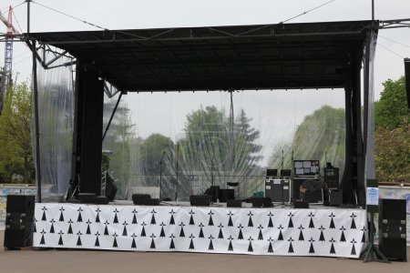 Concert stage before a music performance