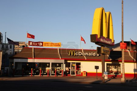 American McDonalds restaurant...