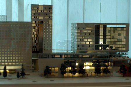 Photo pour Modèle d'un bâtiment - image libre de droit
