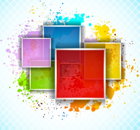 Illustration for Bright background with colorful squares. Abstract illustration - Royalty Free Image