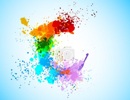 Illustration for Bright colorful grunge background. Abstract shiny illustration - Royalty Free Image