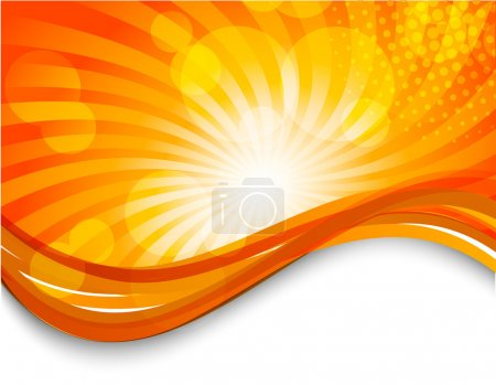 Illustration for Abstract orange background with circles. Bright illustration - Royalty Free Image