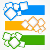 Set of banners with squares Abstract illustration