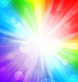 Rainbow background with circles Abstract colorful illustration