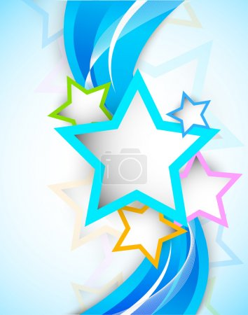 Illustration for Bright colorful background with stars - Royalty Free Image