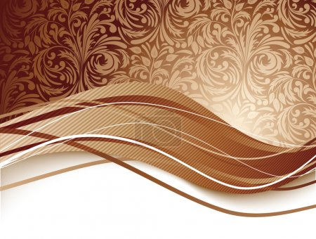 Illustration for Floral background in brown color. Chocolate illustration - Royalty Free Image