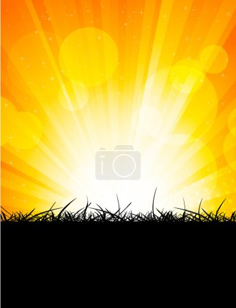 Illustration for Bright orange background. Abstract colorful illustration - Royalty Free Image