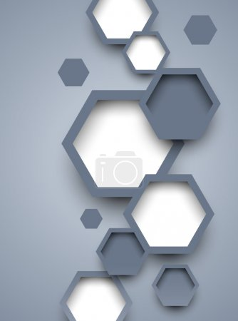 Illustration for Background with hexagons. Abstract illustration - Royalty Free Image