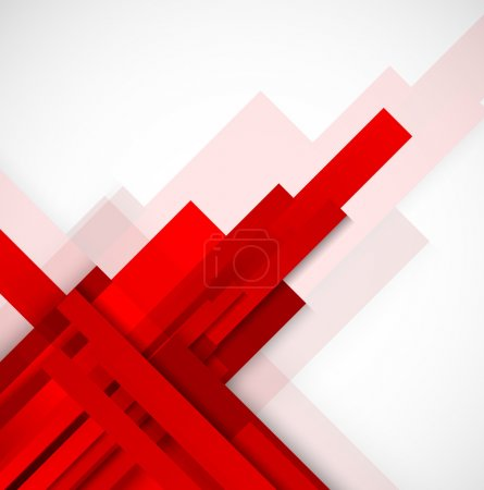 Illustration for Abstract background with red lines - Royalty Free Image