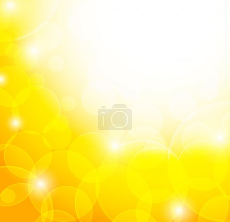 Illustration for Abstract yellow background. Bright illustration - Royalty Free Image