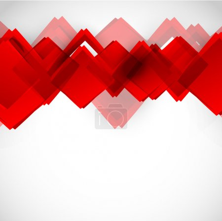 Background with red squares