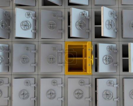 Open safes