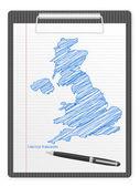 Vágólap-Egyesült Királyság Térkép