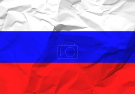 Crumpled paper Russia flag
