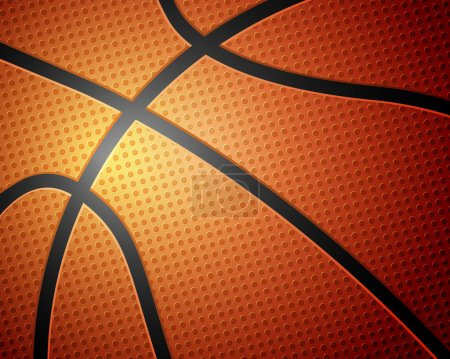 Illustration for Basketball ball detail leather texture background. Vector illustration. - Royalty Free Image
