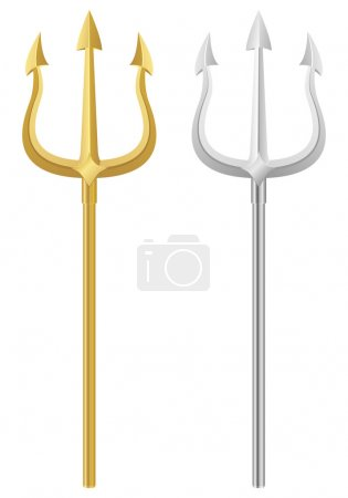 Tridents on a white background. Vector illustratio...
