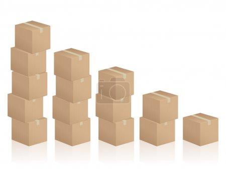 Cardboard boxes diagram
