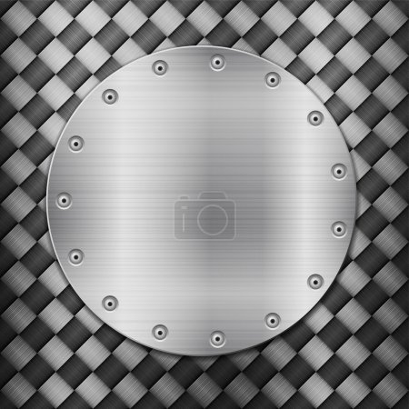Illustration for Pattern of metal texture background. Vector illustration. - Royalty Free Image