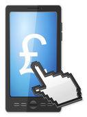 phone cursor and pound symbol