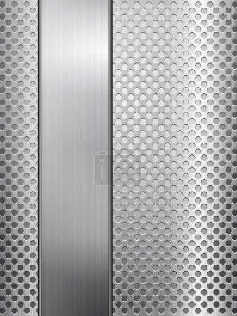 feuille et grille métallique